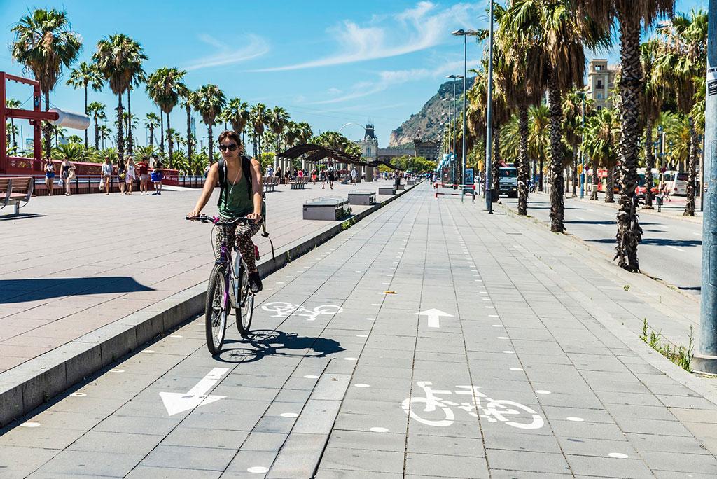 piste ciclabili a Barcellona