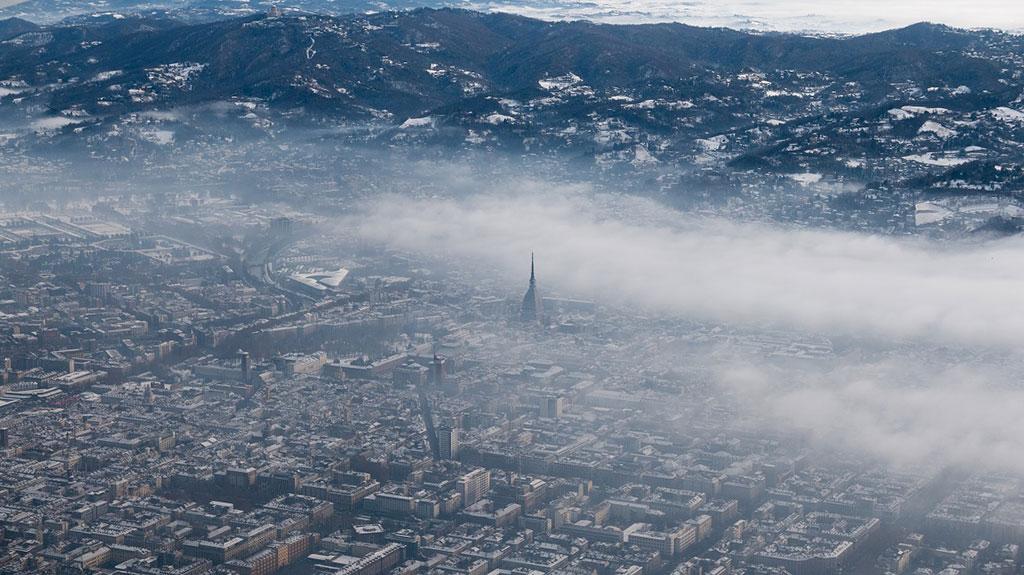 aria inquinata a Torino